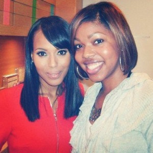 Courtney and actress Kerry Washington