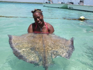 Swimming with Stingrays, Stingray City, Antigua & Barbuda