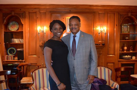 Kiki and the Reverend Jesse Jackson